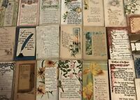 Lot of 25~ Poems~Words~Greetings~ Arts & Crafts Collectible 1900's Postcards-a27