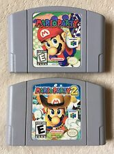Mario Party 1 & 2 (Nintendo 64) N64 2-Game Lot *Cleaned & Tested*