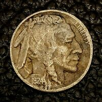 1924-P Buffalo Nickel ~ GOOD (GD) Condition ~ $20 ORDERS SHIP FREE!