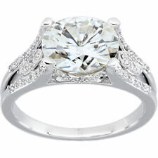 2 carat Oval Shape Diamond Wedding Solitaire Ring 14k White Gold GIA cert H VS2