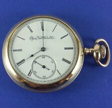 "Antique Elgin Pocket Watch 17 Jewels ""3 Finger Bridge"" 16 Size Ca. 1900"