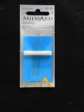 Milward Hand Sewing Needles - Beading Needles - No.10-13 - Pack QTY 4 Needles