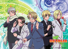 Hetalia Axis Powers Allied Forces in Suits Wall Scroll Fabric Poster (GE-77589)
