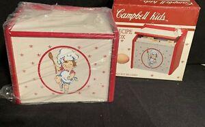 Vintage Campbell Kids Recipe box 1991 All Wood, Westwood  NEW UNUSED
