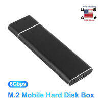 USB 3.1/3.0 M.2 Hard Drive Disk Enclosure External Mobile for Win Android Phones