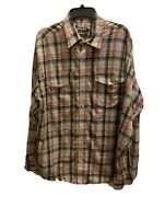 PANHANDLE SLIM MEN'S PLAID WESTERN SNAP BUTTON FRONT LONG SLEEVE SHIRT SIZE XL