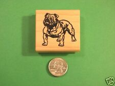 Bulldog Rubber Stamp, wood mounted
