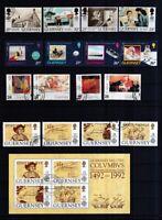 Guernsey 1990-2000 gestempelt Europa CEPT  siehe Bild