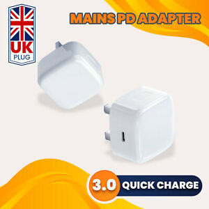 UK Plug PD 18W USB-C Type C Fast Wall Charger Adapter For iPhone 11 Pro Max XS
