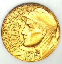 1915-S Panama Pacific Gold Dollar Pan-Pac G$1 Coin - Certified NGC MS62 (BU UNC)
