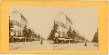 Stereo, France, Vincennes, avenue de Paris Vintage stereo card -  Tirage album