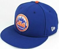 New York Mets MLB, New Era 59Fifty Fitted Hat, Sz 8, Blue Orange Cooperstown