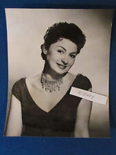 "Original Press Photo - 10""x8""- Adele Leigh - Opera Singer - 1950's"