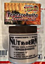 Nutriderm~Tepezcohuite Cream & Soap~Vitamin E, Lanolin & Spf 15~8.36 Oz. 236 ml