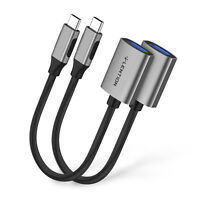 LENTION 2X USB Type C 3.1 Thunderbolt to USB 3.0 OTG Adapter for MacBook Pro 13