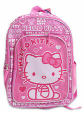 """Backpack 16"""" Multi-Compartment + Attached Hood Sanrio Hello Kitty Pink NWT"""