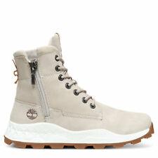Timberland Brooklyn Side Zip Boots Light Taupe | Nubuck A1YMKK51 Men's Size 7.5