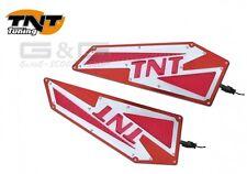 UNIVERSAL TNT Pedane ROSSO-ALLUMINIO con LED STEP LUCE