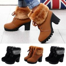 Womens Winter Warm Snow Boots Ladies Casual Ankle Slip Resistant Rubber Boots
