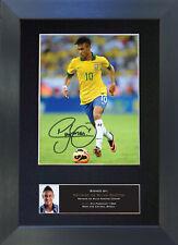 NEYMAR DA SILVA SANTOS Signed Mounted Reproduction Autograph Photo Prints A4 461