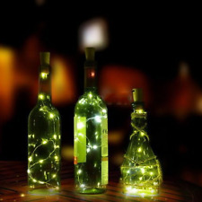 20LED Chic Cork Shaped Night Light Starry Light Wine Bottle Lamp For Xmas Decor