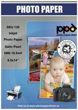 "PPD Inkjet Satin Photo Paper Legal 8.5 x 14"" 68lbs 255gsm x 50 (PPD135-50)"