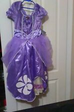 Disney Sofia The First Girls Halloween Dress up Costume Party Dress 9-10