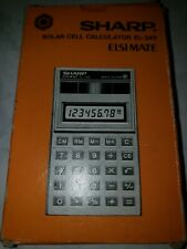VINTAGE SHARP SOLAR CELL CALCULATOR EL-345 ELSI MATE - NEW IN BOX MADE IN JAPAN