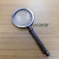 Magnifier Brass Magnifying Glass Antique Vintage Collectible Desktop Item