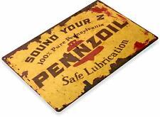 Pennzoil Motor Oil Gas Oil Garage Mechanic Auto Shop Rustic Retro Tin Metal Sign