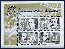 2000 EMINESCU,Mihai Eminescu,National Poet,Romania,Bl.312,MNH
