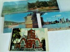 Postcards Wisconsin Lot of 6 LaCrosse, Beloit