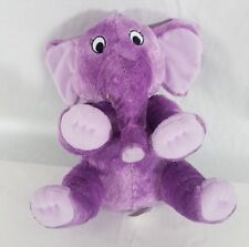 Purple Plush 11 Inch Elephant w/ Infant Safe Eyes by Kohl's Care - The Nose Book