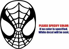 Vinyl Decal Sticker - Spiderman Mask #02 Car Truck Bumper Window Laptop Fun 10""