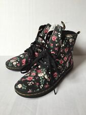 DR. MARTENS Air Wair HACKNEY VINTAGE ROSE FLORAL ANGLE BOOTS SHOES Women Size 5