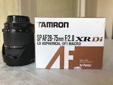 Tamron SP 28-75mm f/2.8 lens (Pentax K fit).