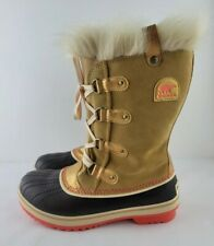 Sorel Womens Size 8 Tan Brown Torino Leather Waterproof Lace Up Snow Boots