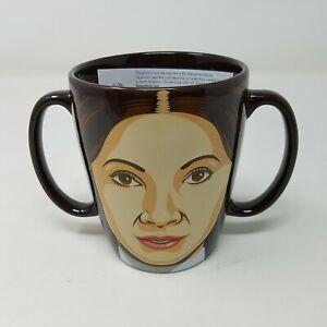 Princess Leia Mug Double Handle Star Wars Disney Store Authentic Collectible NIB