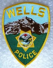 Patch- Wells US Police Patch (New* apx.120x90 mm)