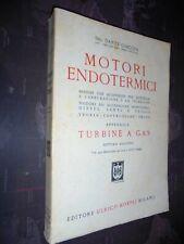 Giacosa D.; MOTORI ENDOTERMICI motori a carburazione .. diesel .. ; Hoepli