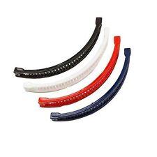 Lot de 4 Plain Banane Pince à Cheveux Banane queue de cheval Peigne Clip Rouge Bleu Marine Noir Blanc