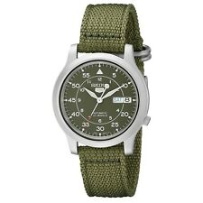 SEIKO 5 SNK805 SNK805K2 Military Style Automatic 21 Jewels Men Watch Green Band