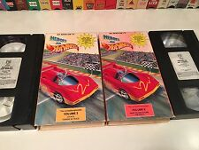 Heroes On Hot Wheels Lot of 2 Family Animation VHS Volume 2 & 6 Mattel '91 TV
