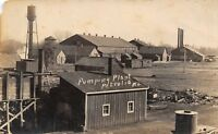 Petrolia Kansas~Pumping Plant~Water Tower~Sheds~Smokestacks~Bldgs~1909 RPPC