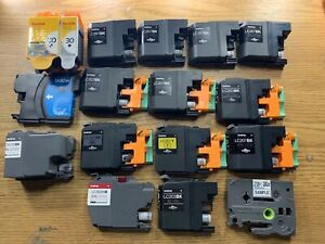 Lot Of Brother And Kodak Virgin Never Refilled Cartridges LC207BK, 30, LC61C etc