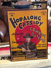 """Hopalong Cassidy Cowboy Outfits Western Sign Tabletop Display Standee 10.5""""Tall"""