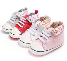 Newborn Baby Girl Comfortable Crib Shoes Infant PreWalker Trainers Sneakers 0-18