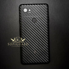 SopiGuard Carbon Fiber Vinyl Sticker Skin Back Side for Google Pixel 2 XL