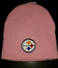 New Adult NFL Winter Pittsburgh Steelers All Pink Skull Hat Cap Ski Beanie-PMJS