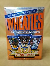 Wheaties Super Bowl 30th Anniversary Wheatie Cereal Box Sealed Never Opened 1995